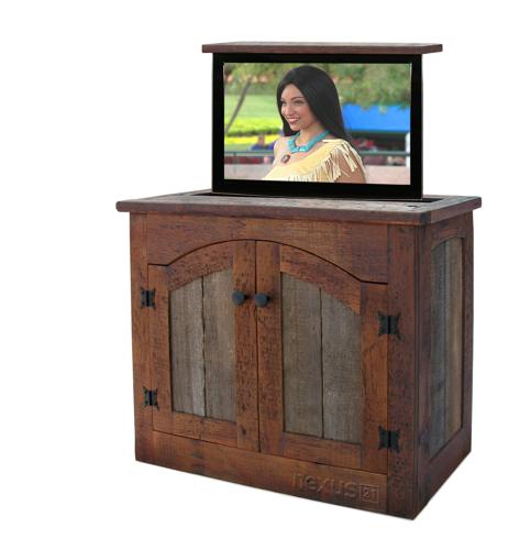 Custom Rustic Furniture by Don McAulay Rustic TV Lift Cabinet 2 Door: