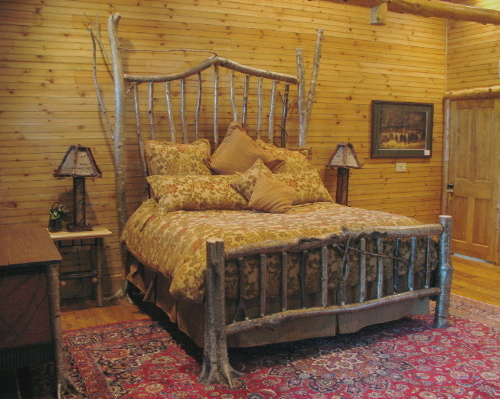 rustic bed, rustic furniture, tree furniture