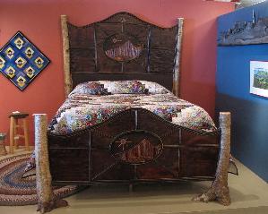 Rustic Furniture, Rustic Bed, Adirondack Furniture