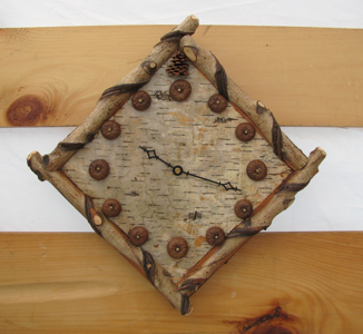 Custom Rustic Furniture by Don McAulay Rustic Wall Clock 2: