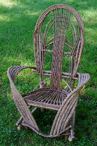 Willow Chair, Bent Willow Furniture, Rustic Chair