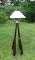 nautical themed, canoe themed, rustic lamp
