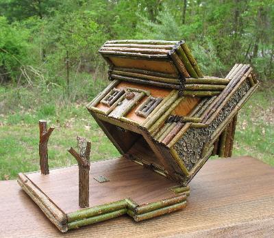 Rustic Cabins, Rustic Birdhouse, Rustic Furniture