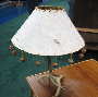 rustic-birch bark lamp shade-rustic lighting