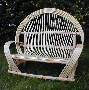 bent willow loveseat, rustic furniture